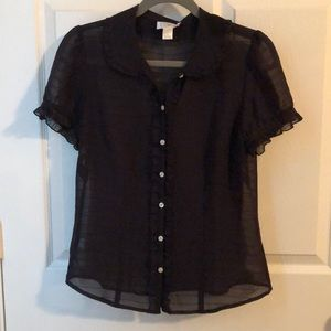 Ann taylor loft sheer black blouse.